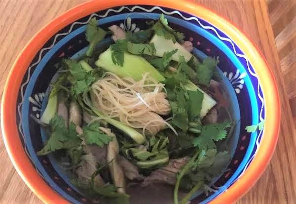 Asian Pork Noodle Soup In Crock Pot