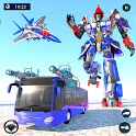 Us Police Bus Robot Transform War Robot Game icon