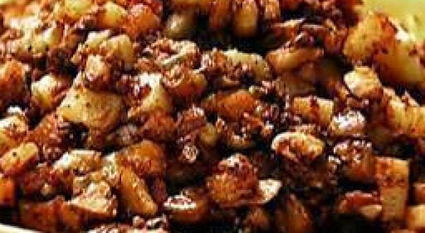 Place chorizo and onion in the skillet. Cook over medium heat scrambling up any...