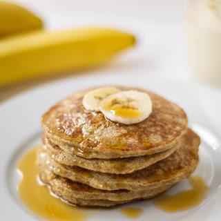 Banana Oatmeal Protein Pancakes {Gluten Free}