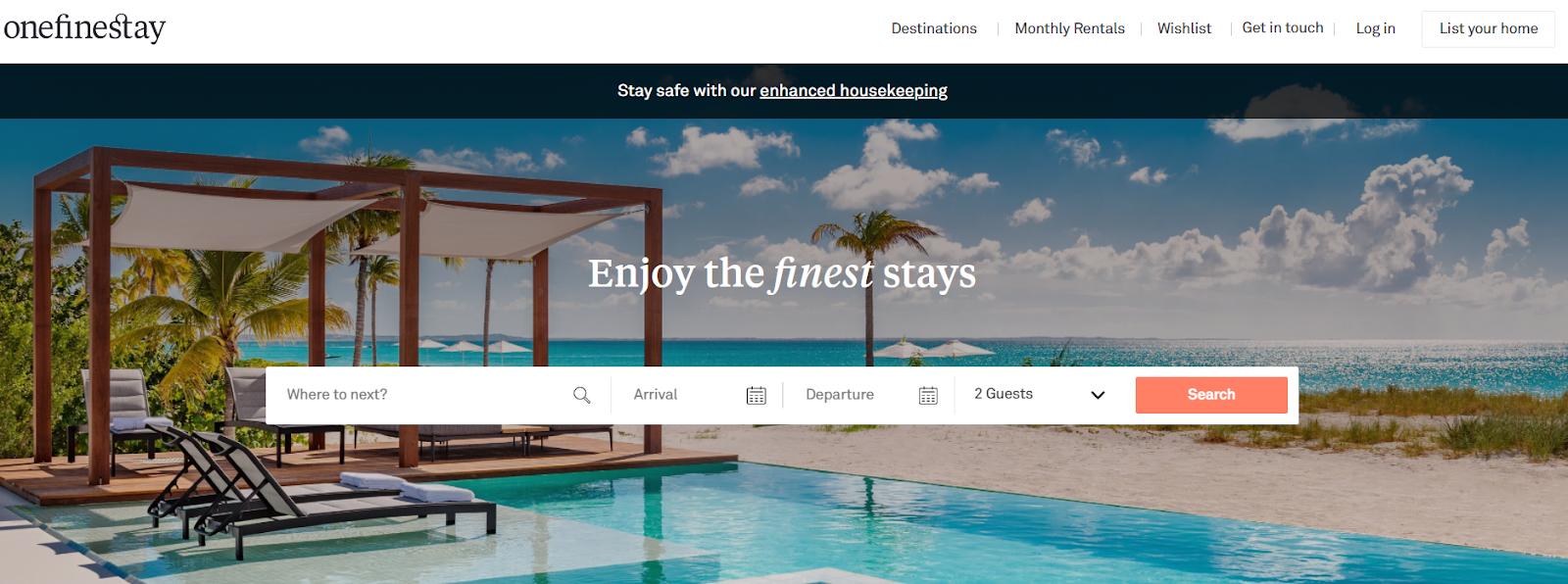 alternativas a Airbnb Onefinestay