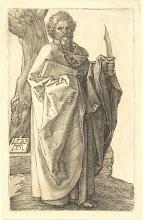 Photo: Albrecht Dürer (German, 1471 - 1528 ), Saint Bartholomew, 1523, engraving, Gift of the Estate of John Ellerton Lodge
