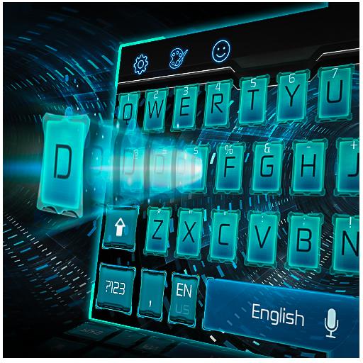 blue space tech keyboard
