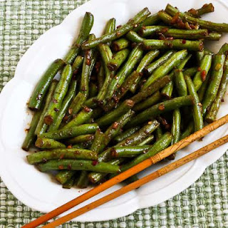 Spicy Sichuan Style Green Beans.