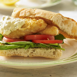 Classic Beer Battered Fish Sandwich.