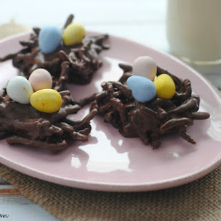Nutella No-Bake Bird Nest Cookie
