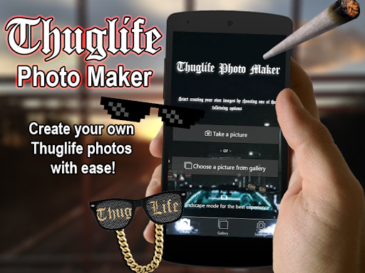 Thuglife Photo Maker -Stickers