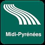 Midi-Pyrénées Map offline