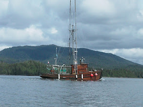 Photo: A wooden fishing boat.