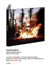 Photo: SPEKTAKEL CD-cover concept, photography & layout, 2007. © concept & photo by jean-marie babonneau all rights reserved. www.betterworldinc.org  Pack-shot of finished CD packaging.