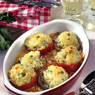 Stuffed Tomatoes And Mushrooms