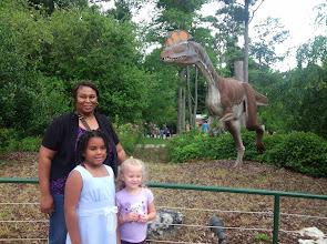 Photo: w/ the dinosaur!