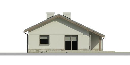 Dom przy Przyjemnej 7 bis - Elewacja przednia