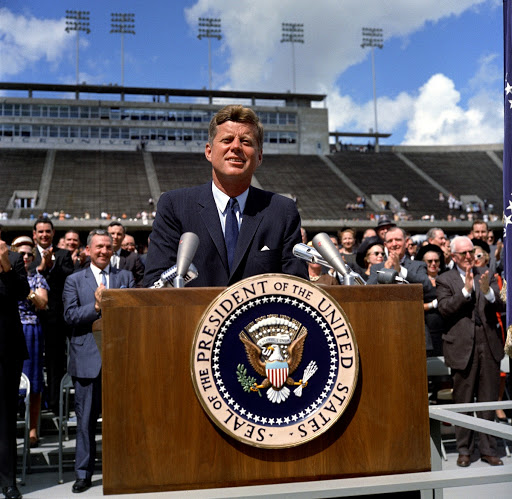 President Kennedy delivers remarks at Rice University