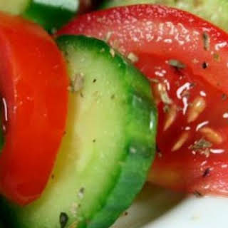 Tomato and Cucumber Diabetic Salad.