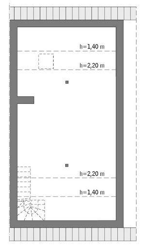 Elastyczny (bliźniak) - BCC346 - Rzut poddasza do indywidualnej adaptacji (45,1 m2 powierzchni użytkowej)
