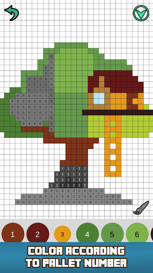 Pixly Color by Number Pixel Art Sandbox