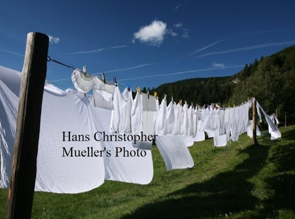 """You had to hang the clothes in a certain order, and always hang """"whites""""..."""