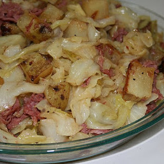 Corned Beef and Cabbage Hash.