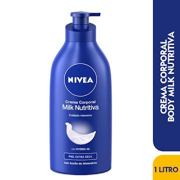 Crema NIVEA Milk   Nutritiva Corporal Hydra IQ x1000Ml