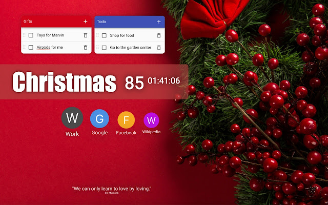 Halloween Thanksgiving Christmas Countdown.New Tab Studio Countdown Background Notes