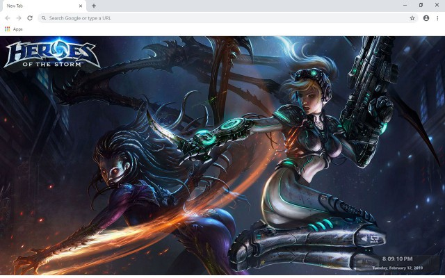 Heroes of the Storm New Tab Theme