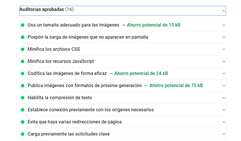 Mejorar mi sitio web con Google Speed Insights