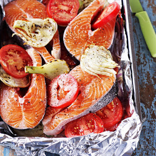 Baked Salmon with Fennel and Tomato