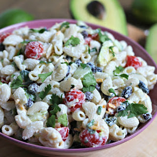Creamy Avocado Lime Pasta Salad