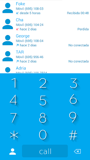 THEME MATERIAL BLUE W EXDIALER