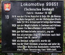 Photo: Die Info-Tafel zur Lok
