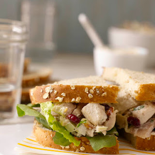 Chicken Salad with Dried Cranberries, Fennel, and Toasted Almonds