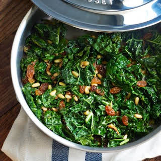 Tuscan Kale with Pine Nuts and Golden Raisins.