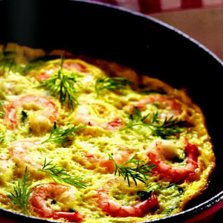 Omelette With Shrimps