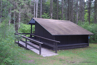Photo: Accessible lean to at Big Deer State Park