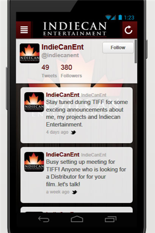 IndieCan Entertainment App- screenshot