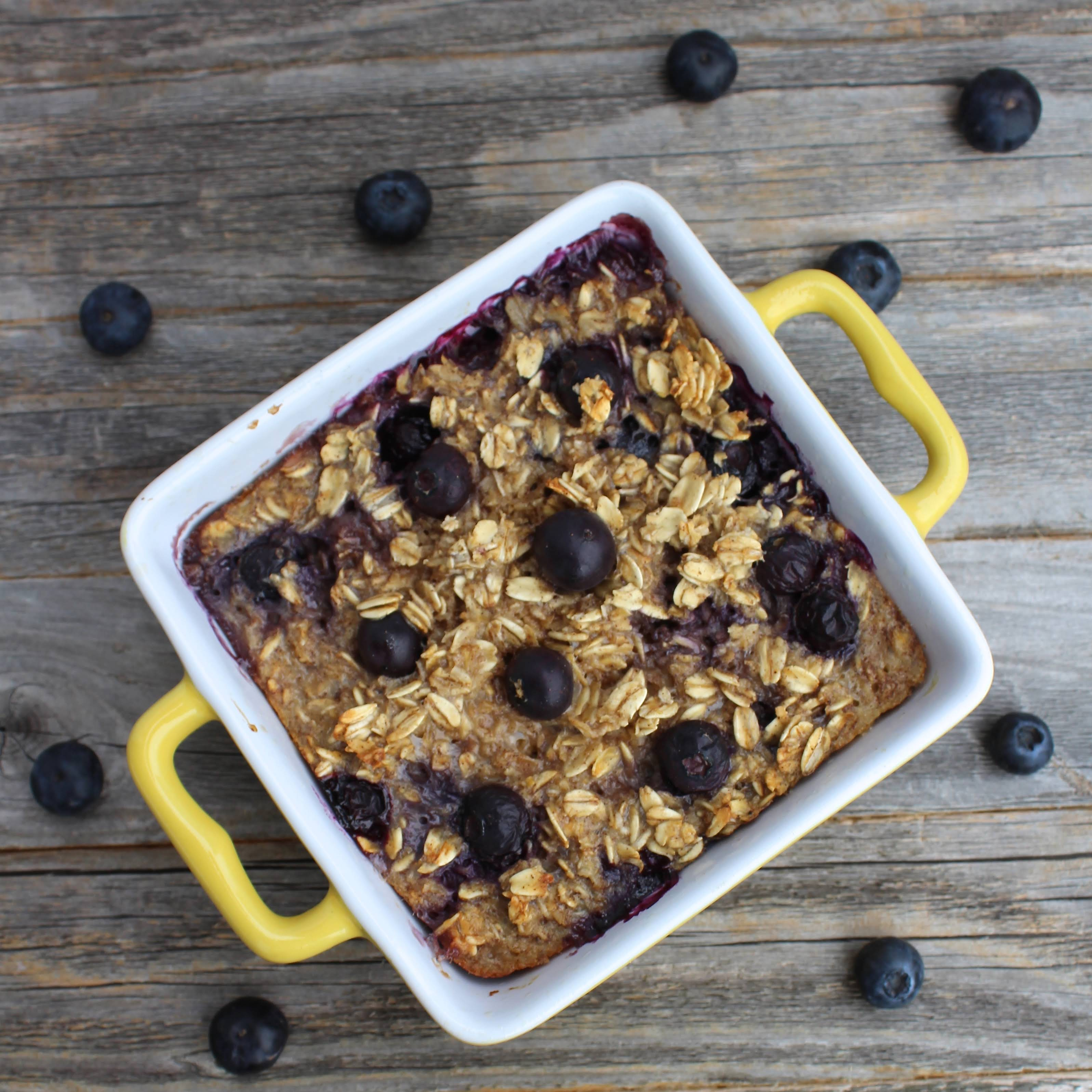 Blueberry Oatmeal Breakfast Bake