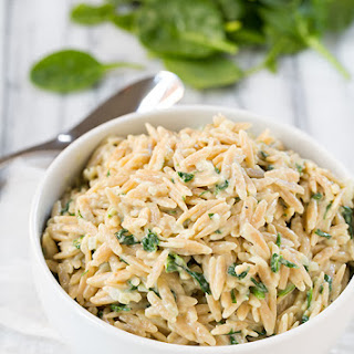Parmesan and Spinach Orzo Recipe