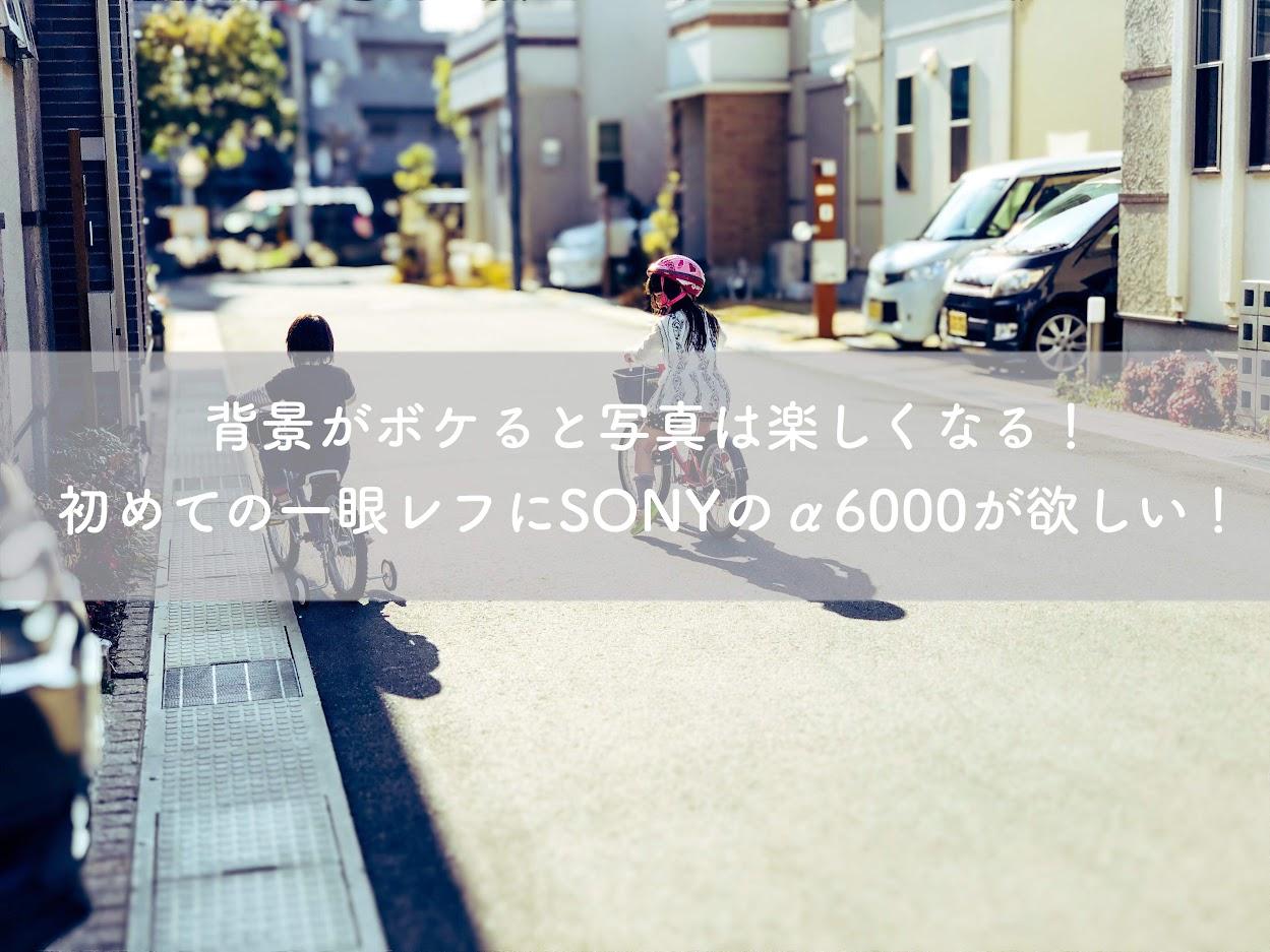 背景がボケると写真は楽くなる!初めての一眼レフにSONYのa6000が欲しい。