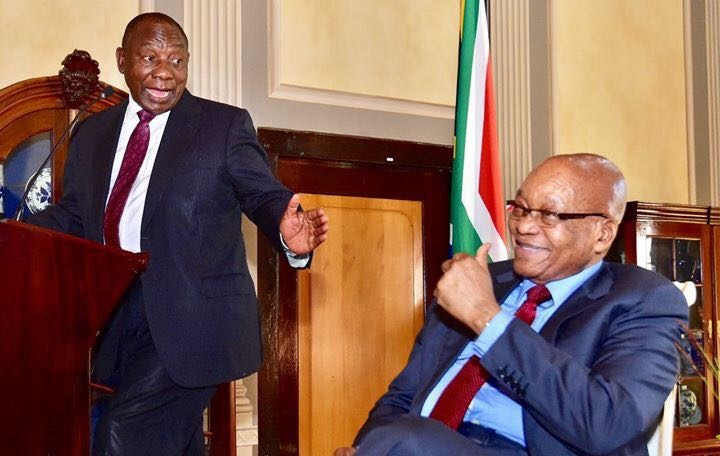 President Cyril Ramaphosa paying tribute to former president Jacob Zuma. Picture: SUPPLIED