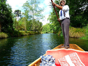 Photo: Punting down Avon River Christchurch