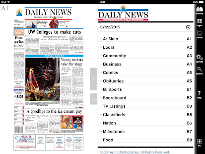 West Bend Daily News- screenshot thumbnail