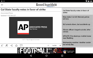 Screenshot of Redding Record Searchlight