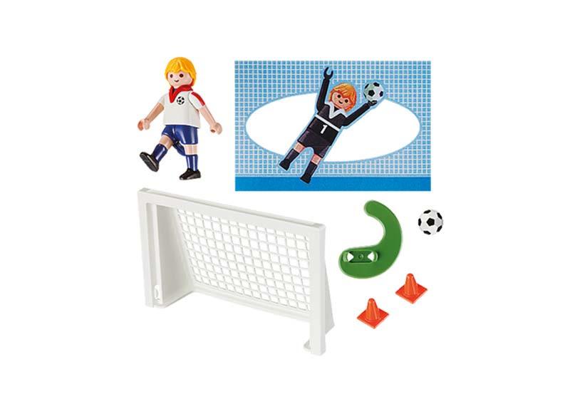 Contenido real de Playmobil® 5654 Maletín Fútbol