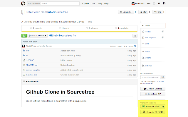 Github Clone in Sourcetree