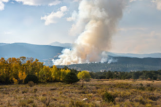 Photo: Large fire just north of Buena Vista on National Fire Day