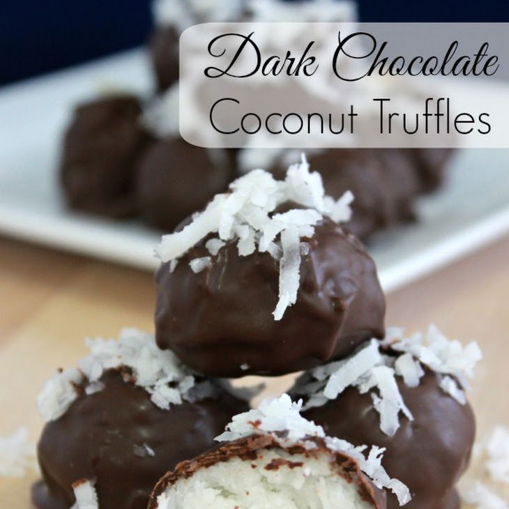 Dark Chocolate Coconut Truffles Recipe
