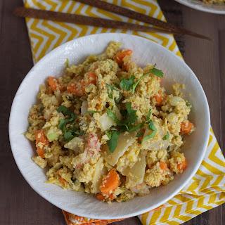 Paleo Kimchi and Shrimp Fried Cauliflower Rice