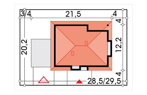 Alabama 4 wersja D podwójny garaż - Sytuacja