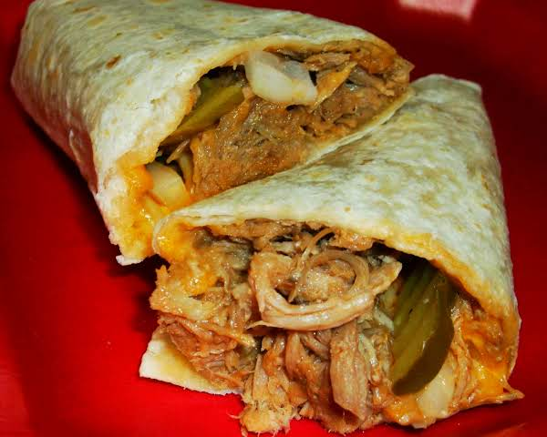 Pulled Pork Barbecue Burritos Recipe